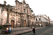 ECUADOR, COLONIAL ARCHITECTURE QUITO; La Compania, Jesuit church, c1605-1768 famous as the most ornate church in Quito
