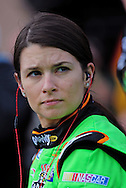 Feb. 20, 2010; Fontana, CA, USA; NASCAR Nationwide Series driver Danica Patrick prior to the Stater Brothers 300 at Auto Club Speedway. Mandatory Credit: Jennifer Stewart-US PRESSWIRE