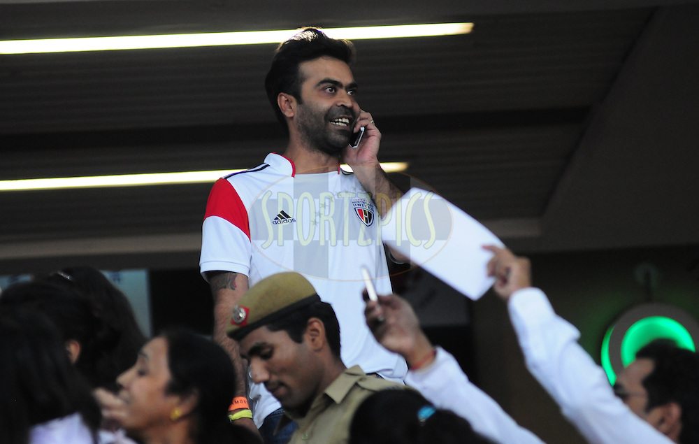 NorthEast United FC co owner during match 16 of the Hero Indian Super League between The Delhi Dynamos FC and NorthEast United FC held at the Jawaharlal Nehru Stadium, Delhi, India on the 29th October 2014.<br /> <br /> Photo by:  Arjun Panwar/ ISL/ SPORTZPICS