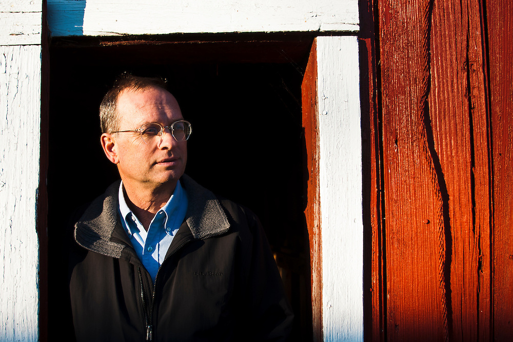 Chris Schmidt, of Schmidt Farms, poses for a portrait at his farm in Auburn, Mich., on Monday November 21, 2011. Schmidt was appointed to the Michigan Wheat Promotions Committee.