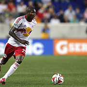 Chris Duvall, New York Red Bulls, in action during the New York Red Bulls Vs Portland Timbers, Major League Soccer regular season match at Red Bull Arena, Harrison, New Jersey. USA. 24th May 2014. Photo Tim Clayton