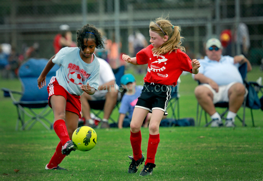 05 October 2013. Carrolton Boosters Soccer. New Orleans, Louisiana. <br /> U10 - Booster Rockettes v Red Hots<br /> Photo; Charlie Varley