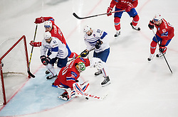 Lars Haugen of Norway vs Teddy da Costa of France during the 2017 IIHF Men's World Championship group B Ice hockey match between National Teams of Norway and France, on May 6, 2017 in Accorhotels Arena in Paris, France. Photo by Vid Ponikvar / Sportida