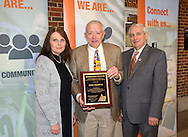 Greg Highfill Distinguished Educator award presented by the Oklahoma Cooperative Extension Service Associate Director Jim Trapp for more than 20 years of meritorious services to extension.