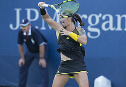 August 22, 2017 - New York, New York, United States - Katerina Stewart of USA returns ball during qualifying game against Kristie Ahn of USA at US Open 2017  (Credit Image: © Lev Radin/Pacific Press via ZUMA Wire)