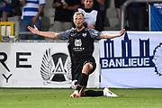 David Pollet reacts during the Jupiler Pro League matchday 4 between Kas Eupen and Kaa Gent on August 19, 2018 in Eupen, Belgium, Photo by David Hagemann /Isosport / Pro Shots / ProSportsImages / DPPI