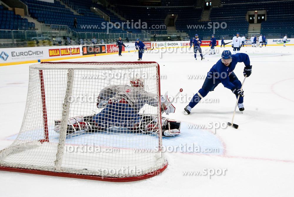 during practice session of Slovakian National ice hockey team 1 day before IIHF 2011 World Championship Slovakia, on April 28, 2011 in Orange Arena, Bratislava, Slovakia. (Photo By Vid Ponikvar / Sportida.com)