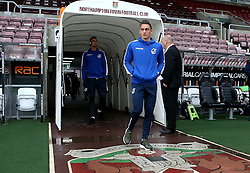 Connor Roberts of Bristol Rovers arrives at Sixfields for the Sky Bet League One fixture with Northampton Town - Mandatory by-line: Robbie Stephenson/JMP - 01/10/2016 - FOOTBALL - Sixfields Stadium - Northampton, England - Northampton Town v Bristol Rovers - Sky Bet League One