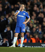 A dejected Joe Cole reacts after Inter Milan score during the second leg of the round of 16 UEFA Champions League match at home to Chelsea at Stamford Bridge football stadium, London on March 16, 2010.
