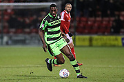 Forest Green Rovers Isaiah Osbourne(34) during the EFL Sky Bet League 2 match between Crewe Alexandra and Forest Green Rovers at Alexandra Stadium, Crewe, England on 20 March 2018. Picture by Shane Healey.
