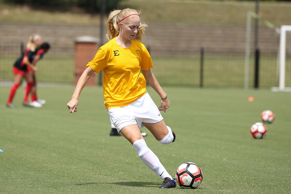 August 27, 2017 - Johnson City, Tennessee - Summers-Taylor Stadium: ETSU defender Pauline Vienne (19)<br /> <br /> Image Credit: Robert Kell