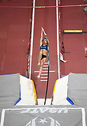 Mar 5, 2017; Albuquerque, NM, USA; Kortney Ross places fourth in the women's pole vault at 15-1 (4.60m) during the USA Indoor Championships at the Albuquerque Convention Center.