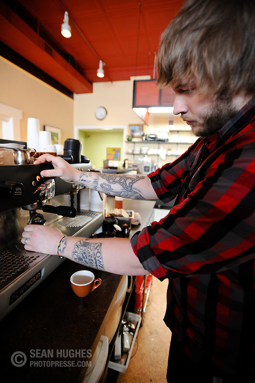 Nicholas Kemper at the new Bonbonerie Coffee Shop, 2030 Madison Rd.