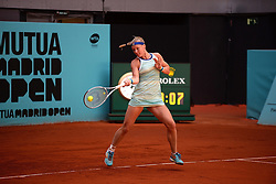 May 6, 2019 - Madrid, Spain - Kiki Bertens (NED) in her match against Jelena Ostapenko (LAT) during day three of the Mutua Madrid Open at La Caja Magica in Madrid on 6th May, 2019. (Credit Image: © Juan Carlos Lucas/NurPhoto via ZUMA Press)