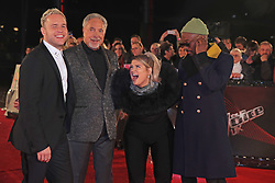 The Voice UK coaches Olly Murs, Sir Tom Jones, Meghan Trainor and will.i.am arrive for the blind auditions in Salford, Manchester.