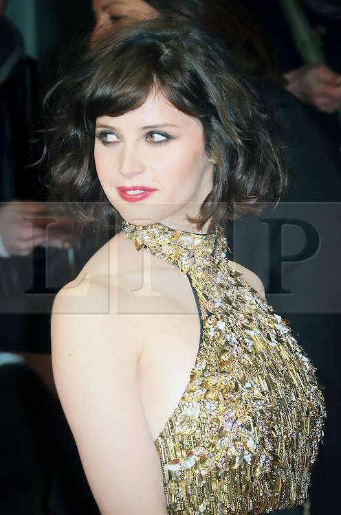 © London News Pictures. Felicity Jones, The Invisible Woman - UK film premiere, Odeon Kensington High Street, London UK, 27 January 2014. Photo credit: Richard Goldschmidt/LNP