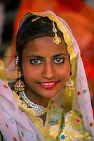 Rajasthani woman at the Pushkar Fair (camel fair), Pushkar, Rajasthan, India