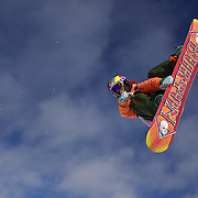 Katarzyna Rusin, Poland, in action during the Men's Half Pipe Qualification in the LG Snowboard FIS World Cup, during the Winter Games at Cardrona, Wanaka, New Zealand, 27th August 2011. Photo Tim Clayton..