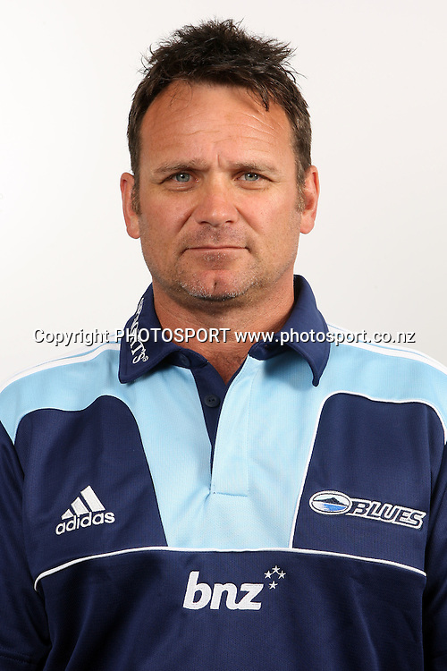 Assistant manager Craig Lister. Blues Headshots, Investec Super Rugby, Auckland, 7 February 2011. Photo: William Booth/photosport.co.nz