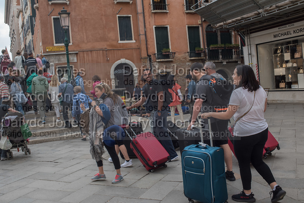 TOURISTS WITH SUITCASES, VENICE,, Venice Biennale,  Venice, Friday 12  May 2017