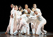 Alvin Ailey American Dance Theater at <br /> Sadler&rsquo;s Wells London <br /> Great Britain <br /> <br /> Artistic director Robert Battle<br /> 6th September 2016 <br /> <br /> rehearsal <br /> <br /> Awakening <br /> <br /> Choreography by Robert Battle / Music: John Mackey.<br /> <br />  Buoyed by the complex rhythmic quality of Mackey&rsquo;s music (Turning and The Attentions of Souls, the third movement from the symphony Wine-Dark Sea) and a cast of a dozen of Ailey&rsquo;s extraordinary dancers, Battle&rsquo;s work leads the audience on a cathartic journey of dissonance and harmony, chaos and resolution<br /> <br /> <br /> Alvin Ailey American Dance Theater, founded in 1958, is recognised by the U.S. Congress as a vital American &ldquo;Cultural Ambassador to the World.&rdquo;  Under the leadership of Artistic Director Robert Battle, Ailey&rsquo;s performances celebrate the human spirit through the African-American cultural experience and the American modern dance tradition.  In almost six decades, Ailey&rsquo;s artists have performed for over 25 million people in 71 countries on six continents and continue to wow audiences and critics around the world.<br /> <br /> <br /> <br /> <br /> <br /> <br /> <br /> <br /> Photograph by Elliott Franks <br /> Image licensed to Elliott Franks Photography Services