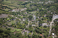Aerial view of the destruction in the agricultural and rural areas of El Salvador Tropical depression after E12. Thursday October 20, 2011 took place after the first aerial view.Tropical Depression 12E broke the record in accumulated rainfall 1256 millimeters thirty-two caused victims and plus thirty-two thousand people evacuated two hundred lodges. Low Lempa suffers from discharges from hydroelectric dams and seven thousand cubic meters per second. Photo Edgar ROMERO/Imagenes Libres