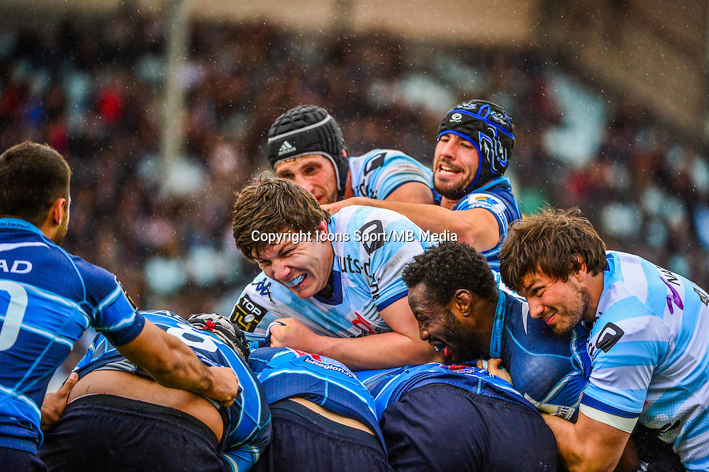 Luke CHARTERIS / Antoine BATTUT / Fabrice METZ  - 11.04.2015 - Racing Metro / Montpellier  - 22eme journee de Top 14 <br />