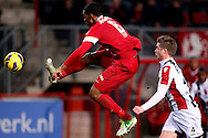 Onderwerp/Subject: FC Twente - Willem II - Eredivisie<br /> Reklame:  <br /> Club/Team/Country: <br /> Seizoen/Season: 2012/2013<br /> FOTO/PHOTO: Leroy FER (L) of FC Twente in duel with Jordens PETERS (R) of Willem II. (Photo by PICS UNITED)<br /> <br /> Trefwoorden/Keywords: <br /> #04 $94 ±1355229149625<br /> Photo- & Copyrights © PICS UNITED <br /> P.O. Box 7164 - 5605 BE  EINDHOVEN (THE NETHERLANDS) <br /> Phone +31 (0)40 296 28 00 <br /> Fax +31 (0) 40 248 47 43 <br /> http://www.pics-united.com <br /> e-mail : sales@pics-united.com (If you would like to raise any issues regarding any aspects of products / service of PICS UNITED) or <br /> e-mail : sales@pics-united.com   <br /> <br /> ATTENTIE: <br /> Publicatie ook bij aanbieding door derden is slechts toegestaan na verkregen toestemming van Pics United. <br /> VOLLEDIGE NAAMSVERMELDING IS VERPLICHT! (© PICS UNITED/Naam Fotograaf, zie veld 4 van de bestandsinfo 'credits') <br /> ATTENTION:  <br /> © Pics United. Reproduction/publication of this photo by any parties is only permitted after authorisation is sought and obtained from  PICS UNITED- THE NETHERLANDS