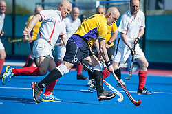 Old Loughtonians v Charnwood Mountsorrel - Men's O50s Shield Final, Lee Valley Hockey & Tennis Centre, London, UK on 01 May 2016. Photo: Simon Parker