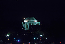 October 11, 2016 - Washington, DC, United States - A nighttime view of the Jefferson Memorial from the South Lawn of the White House October 11, 2106 in Washington, DC. (Credit Image: © Cheriss May/NurPhoto via ZUMA Press)