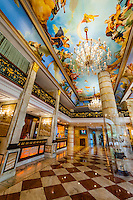 Interior view, Hotel the Royal Plaza, New Delhi, India.