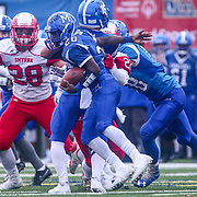 Middletown running back NAJAIR SMITH (20) rushes for a few yards during the 2017 DIAA Division I state championship game between the Smyrna Eagles and Middletown Cavaliers Saturday, Dec. 02, 2017 at Delaware Stadium in Newark, DE.