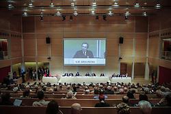 Italy, Turin - April 27, 2018.Shareholders meeting of BANCA INTESA SANPAOLO bank..Gian Maria Gros Pietro (Credit Image: © Lapone/Fotogramma/Ropi via ZUMA Press)