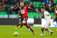 Sylvain ARMAND / Julien FERET  - 25.01.2015 - Rennes / Caen  - 22eme journee de Ligue1<br /> Photo : Vincent Michel / Icon Sport *** Local Caption ***