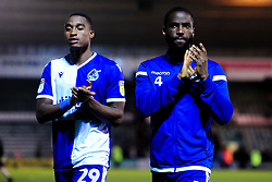 Victor Adeboyejo of Bristol Rovers and Abu Ogogo of Bristol Rovers - Mandatory by-line: Ryan Hiscott/JMP - 03/09/2019 - FOOTBALL - Home Park - Plymouth, England - Plymouth Argyle v Bristol Rovers - Leasing.com Trophy