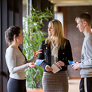 06.02.2018.         <br /> The Minister for European Affairs Helen McEntee TD will visit UL to outline the EU career opportunities open to UL graduates. <br /> <br /> Pictured during the visit were, The Minister for European Affairs Helen McEntee TD and UL students, Jack O'Connor and Caitlin Nolan.<br /> <br /> The address is part of a special seminar arranged by EU Jobs Ireland, which will also include presentations by experts from the European Parliament and the Department of the Taoiseach. It&rsquo;s your chance to learn about the range of careers on offer in the EU, how the recruitment process works. The seminar is free and open to all UL students, graduates and staff. Picture: Alan Place