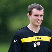 St Johnstone pre-seson training....24.06.11<br /> David Robertson<br /> see story by Gordon Bannerman Tel: 07729 865788<br /> Picture by Graeme Hart.<br /> Copyright Perthshire Picture Agency<br /> Tel: 01738 623350  Mobile: 07990 594431