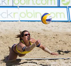 01-08-2014 AUT: FIVB Grandslam Volleybal, Klagenfurt<br /> Juliana Felisberta Silva of Brasil in action<br /> ***NETHERLANDS ONLY***