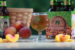 Peach Barrel Ale by Alltech Brewing and Distilling, new for summer 2014, Tuesday, May 06, 2014 at Palmer Palace in Lexington.