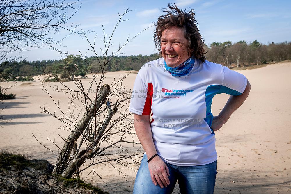 18-03-2018 NED: We hike to change diabetes, Soest<br /> Training voor de Camino 2018 op de Soesterduinen / Petra