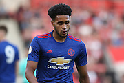 Sadiq El Fitouri of Manchester United U23's during the Under 23 Premier League 2 match between Southampton and Manchester United at St Mary's Stadium, Southampton, England on 22 August 2016. Photo by Phil Duncan.