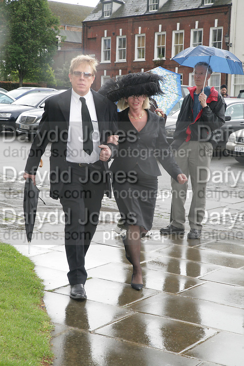 Antony Price, Funeral for Isabella Blow. Gloucester Cathedral. 15 May 2007.  -DO NOT ARCHIVE-© Copyright Photograph by Dafydd Jones. 248 Clapham Rd. London SW9 0PZ. Tel 0207 820 0771. www.dafjones.com.