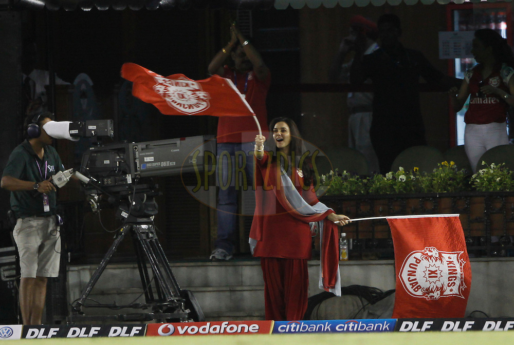 Priti Zinta onwer of Kings XI Punjab during match 9 of the Indian Premier League ( IPL ) Season 4 between the Kings XI Punjab and the Chennai Super Kings held at the PCA stadium in Mohali, Chandigarh, India on the 13th April 2011..Photo by Pankaj Nangia/BCCI/SPORTZPICS