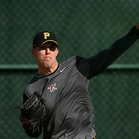 BRADENTON, FL -- January 13, 2010 -- Pittsburg Pirates pitcher Paul Maholm unloads during workouts at the Pirate City Spring Training Headquarters in Bradenton, Fla., on Wednesday, January 13, 2010.  (Chip Litherland for the Chip Litherland for the Pittsburgh Tribune-Review)