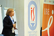 Agata Dziarnowska from European Commission speaks during conference Trainers Academy for trainers and coaches at National Stadium in Warsaw on September 30, 2014.<br /> <br /> Poland, Warsaw, September 30, 2014<br /> <br /> Picture also available in RAW (NEF) or TIFF format on special request.<br /> <br /> For editorial use only. Any commercial or promotional use requires permission.<br /> <br /> Mandatory credit:<br /> Photo by &copy; Adam Nurkiewicz / Mediasport