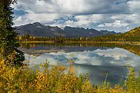 Mentasta Lake along the Tok Cutoff Highway near the Mentasta Summit; Alaska