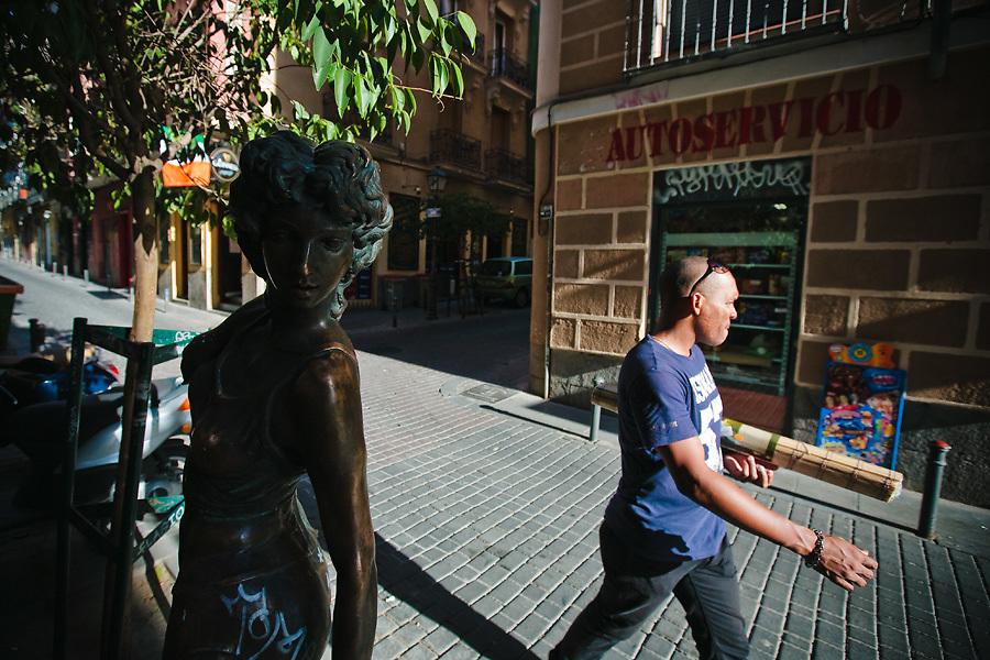 El paisaje urbano de Malasaña es una mezcla única en Madrid.