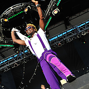 Major Lazer performs during Day 3 of the 2010 Pitchfork Festival in Chicago, IL.