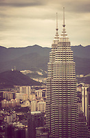 The Petronas Towers, once the tallest buildings in the world, are considered a symbol of Malaysia's soaring success, Kuala Lumpur, Southeast Asia.