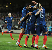 FOOTBALL - UEFA EURO 2012 - QUALIFYING - GROUP D - LUXEMBOURG v FRANCE - 25/03/2011 - GOAL PHILIPPE MEXES (FRA) - PHOTO FRANCK FAUGERE / DPPI